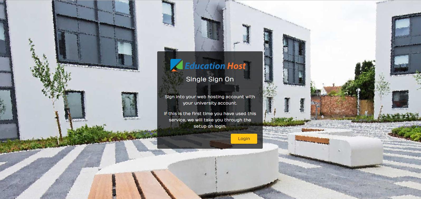 Education Host - Student web hosting single sign on