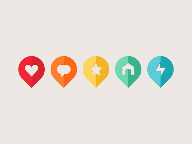 custom map pins - Education Host